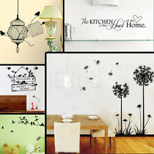 Wall Art Decals Stickers Quotes Home Room Decor DIY Bird Tree Removable Vinyl