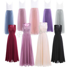 Women's Ladies Chiffon Bridesmaid Long Dress Evening Formal Party Prom Ball Gown