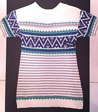 NEW TAGS OLD NAVY SWEATER DRESS FAIR ISLE GIRLS XS S M WHITE BLUE GREEN 5 6 7 8