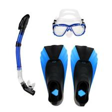 Snorkel Mask Dry Snorkel Fins Set for Diving Snorkeling Swim Adult XXS-M