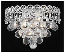 Century Clear Crystal Sconce w 2 Lights in Chrome [ID 962866]