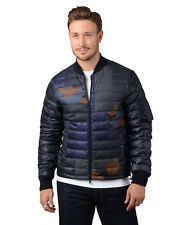 Moncler Jacket - Mens Philippe Down Bomber Jacket in Blue RPP