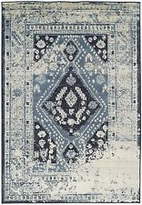 Premium Distressed Area Rugs Traditional Rugs Living Room 8x10 Rug 5x8 Rug Blue