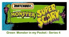Monster in my Pocket - Series 4 Super Scary - Mini Figure MIMP Matchbox  Green