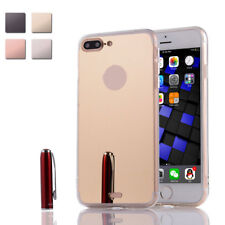 Luxury Ultra thin Metal Frame Mirror Back Protective Case for iPhone 7 Plus 5.5