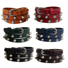 Cool Punk PU Leather Belt Rivet Bracelet Cuff Wristband Fashion Style Bangle