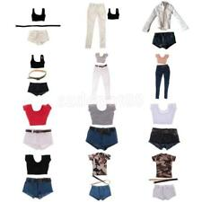 1/6 Scale Female Action Figure Clothing Crop Top T-shirt Pants Set Accessory Toy