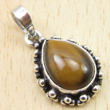 925 Sterling Silver Plated OXIDIZED Pendant ! Ancient Style Gemstone Jewelry