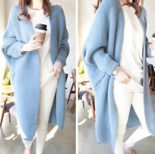 New Fall Women Loose Knitted Sweater Batwing Sleeve Tops Cardigan Outwear Coat