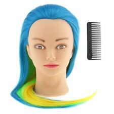 26'' Salon Synthetic Hair Training Practice Head Mannequin Hairdressing Tool