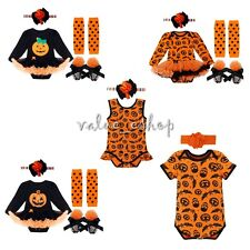 Halloween Baby Girls Party Costume Romper Bodysuit Fancy Dress Outfit Set 0-12M