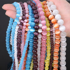 Opal Cat's Eye Round Beads Strand Finding For DIY Making Bracelets Necklace
