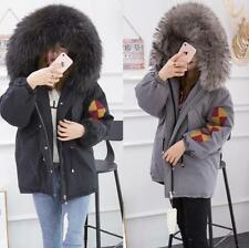 Embroidery Down Jacket Women's 100% Real Fur Collar Fashion Coat Outdoor Parka
