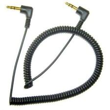 For AT&T PHONES - BLACK COILED AUX CABLE CAR STEREO WIRE AUDIO SPEAKER CORD