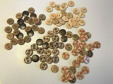 10 X 15mm Printed Coconut Shell Buttons 2 holes Sewing Scrapbooking DIY Craft