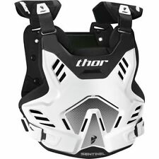 Thor Sentinel GP Chest Protector Roost Guard White/Black Motocross Offroad Adult