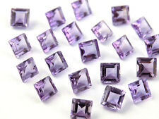 4mm to 8mm Natural Pink Amethyst Square Cut Calibrated Size Loose Gemstones