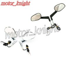 Muscle Rear View Mirrors & LED Front Turn Signals For Harley Davidson VROD VRSCF