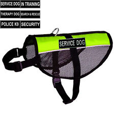 Mesh Service Dog Vest Harness with 2 Free Removable Patches TRAINING THERAPY DOG