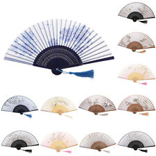 Bamboo Folding Fan Chinese Japanese Vintage Hand Fan for Home Party Decor