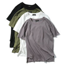 T-shirt Streetwear Fashion Casual Summer Arc Hem Mens Tops