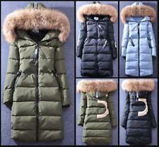 Women's 100% Real Fur Collar Outdoor Coat Embroidery Design Down Jacket Parka