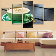 Coffee Cup Paintings Poster Abstract Prints Modern Canvas Wall Art Home Decor