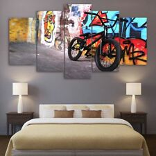 Canvas Paintings Printed 5 Pieces Abstract bike Wall Art