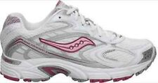 SAUCONY Women's Grid Cohesion 3 -White/Silver/Pink- Running Shoe
