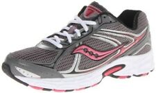 SAUCONY Women's Grid Cohesion 7 •Gray/Black/Pink• Running Shoe - Wide Width