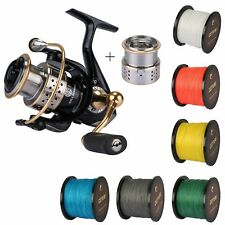 Metal Fishing Spinning Reel Left Right Handed + 500M Braided Strong Fishing Line