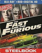 The Fast and the Furious Blu-ray Limited Edition Steelbook New Sealed OOP