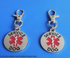 ALL ACCESS CANINE™ Service Dog Emotional Support Animal ESA metal dog collar tag