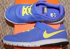 New! Boys Nike Flex Experience 5 (No laces to tie! Blue/Yellow) - Size 3 Y