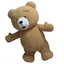 Reenactment Theater Inflatable Plush Bear Mascot Costume Adults Size outfits New