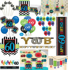 60th Birthday Party Decoration Supplies Sixtieth Celebration Adult Parties ~ 60