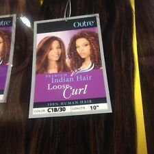 Indian Hair Loose Curl by Outre 100% Human Hair Wet n Wavy Weft Weave Extension