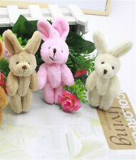 2x Wedding Gift Joint Rabbit Pendant Plush Stuffed TOY Soft Rabbit Toy For Kid .