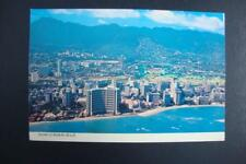 644) WAIKIKI BEACH HAWAII DOWNTOWN AREA WITH THREE SHERATON HOTELS PACIFIC OCEAN