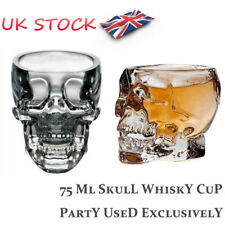 UK 3D Skull Pirate Crystal Glass Cup Shot Mugs Beer Whiskey Drink Club Halloween
