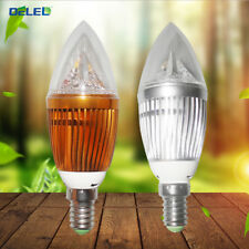 4X3W Light Bulb E12 Flame LED Chandelier Candle Lamp