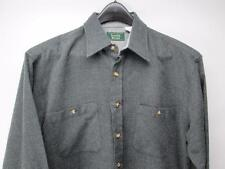 Scandia Woods Long Sleeve Shirt Button Front Camp Shirt Gray Acrylic M