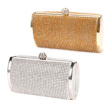 Crystal Diamante Covered Evening Bag Small Box Shaped Wedding Clutch Bridal Prom