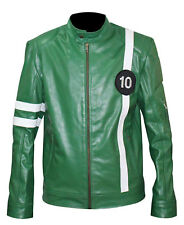Ben 10 Tennyson Alien Swarm Ryan Kelley Green Leather Jacket