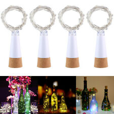 1.5M 15LED USB Rechargeable Wine Bottle Cork Light String Party Xmas Decoration