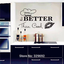 Kiss Better Than Cook Kitchen Quote Wall Art Decal Home Decor Vinyl Wall Sticker