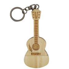 Wooden Guitar Model USB 2.0 Flash Drive Memory Storage Stick U Disk for Desktop