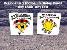 Personalised Any Football Team Christmas Card - Premier League