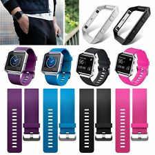 Replacement Wrist band Watch Strap Bracelet + Metal Frame For Fitbit Blaze Sport