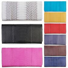 Trifold Wallet Clutch Purse Womens Lady Stylish Genuine Cobra Snake Skin Leather